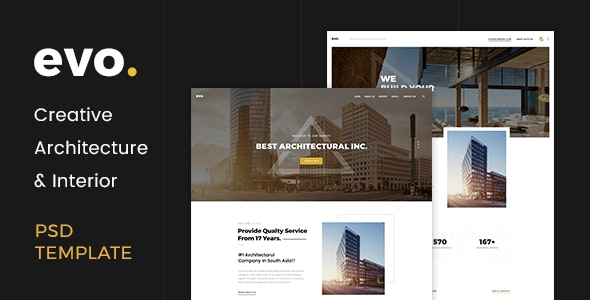 EVO - Creative Architecture & Interior PSD Template - Marketing Corporate