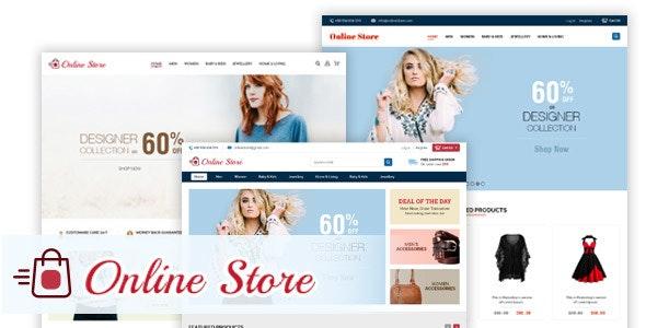 Online Store - Creative Ecommerce PSD Web Templates - Photoshop UI Templates