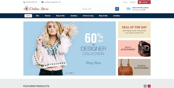 Online Store - Creative Ecommerce PSD Web Templates