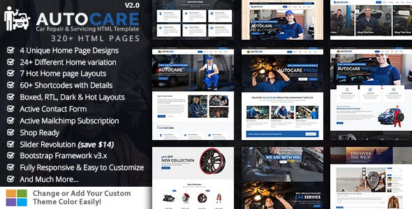 AutoCare - Car Repair Shop HTML