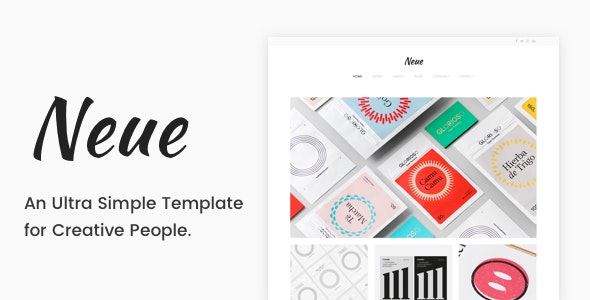 Neue - A Simple Template for Creative People - Creative Site Templates