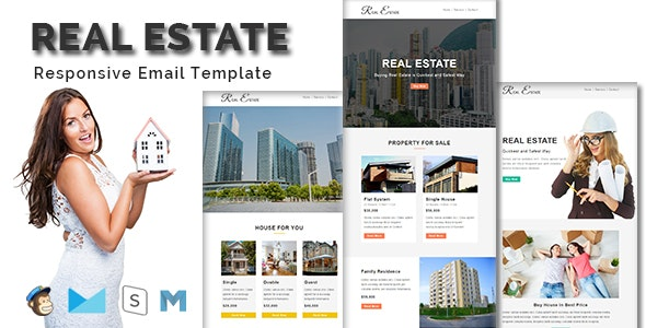 REAL ESTATE - Multipurpose Responsive Email Template - Email Templates Marketing