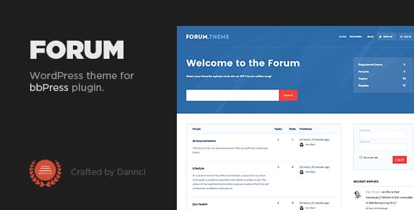 Download Forum - A responsive theme for bbPress plugin
