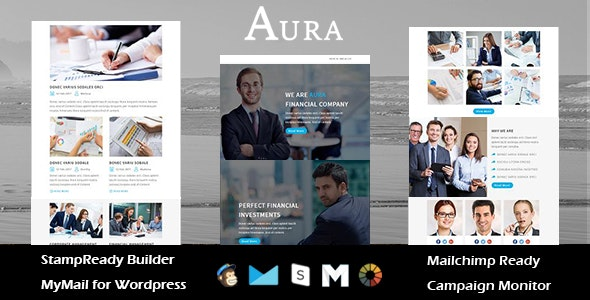 AURA - Multipurpose Responsive Email Templates with Stamp Ready Builder Access - Newsletters Email Templates