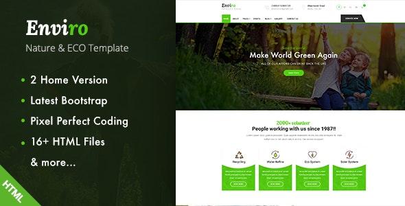 Enviro - Environment / Non-Profit HTML Template - Environmental Nonprofit