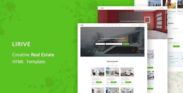Lirive - Real Estate HTML Template - Marketing Corporate