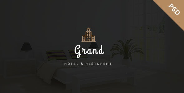 Grand - Hotel & Resturent PSD Template - Photoshop UI Templates
