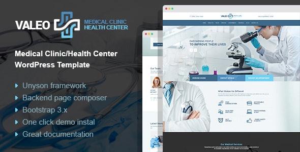 Valeo - health center and hospital WordPress Theme - Health & Beauty Retail