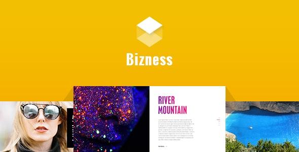 Bizness - Corporate Business PSD Template - Business Corporate