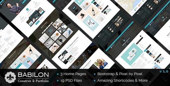 Babilon - Creative & Portfolio PSD Template - Creative Photoshop