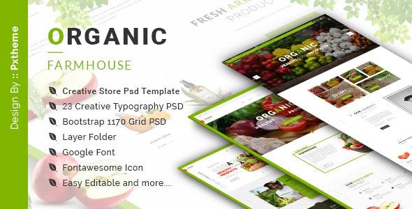 Organic Store PSD Template - Food Retail