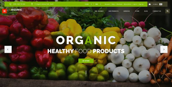 Organic Store PSD Template