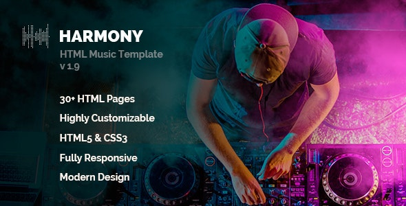 Harmony Music | Music Template - Music and Bands Entertainment