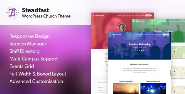 Steadfast - Responsive WordPress Church Theme - Churches Nonprofit