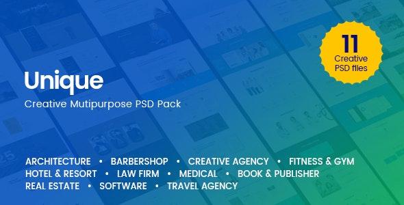 Unique - Creative Multi-Purpose PSD Template - Creative Photoshop