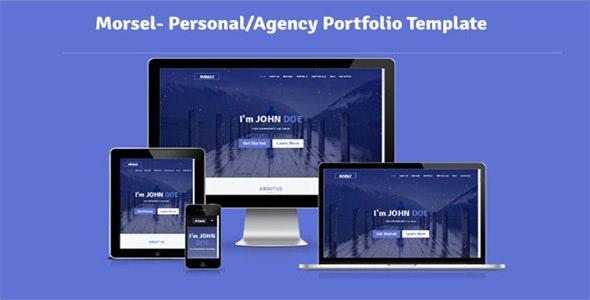 Morsel- Personal/Agency Portfolio Template - Portfolio Creative