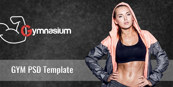 Gymnasium Gym PSD Template - Creative Photoshop