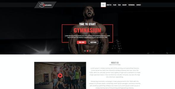 Gymnasium Gym PSD Template