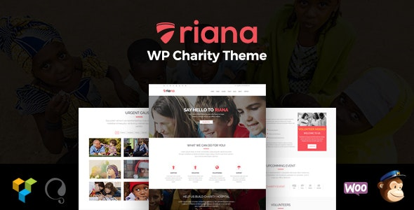 Riana - WordPress Charity Theme - Charity Nonprofit