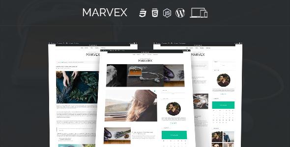 Marvex - Responsive WordPress Blog Theme - News / Editorial Blog / Magazine