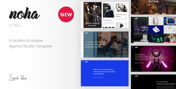 Noha - A modern & unique Agency / Studio Template - Portfolio Creative