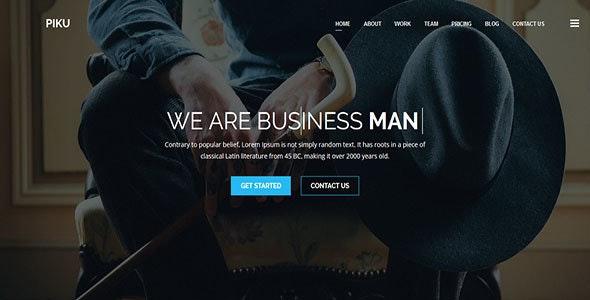 Piku - One Page MultiPurpose HTML5 Template - Creative Site Templates