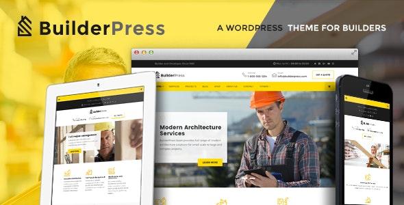 BuilderPress - Construction and Architecture WordPress Theme - Business Corporate
