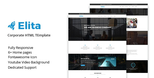 Elita – Corporate HTML Template - Business Corporate