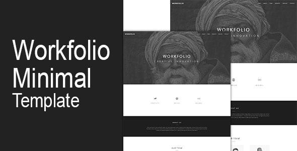 Workfolio Minimal One Page Html Template - Portfolio Creative