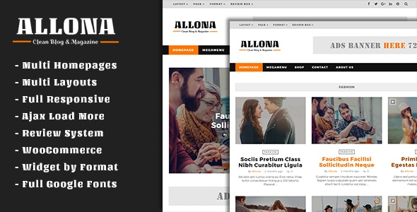 Allona - Clean & Beautiful Blog and Magazine Theme - Blog / Magazine WordPress