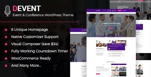 D Event - Conference WordPress Theme - Events Entertainment