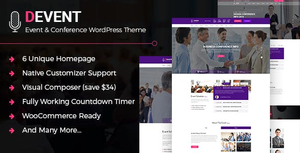 D Event - Conference WordPress Theme
