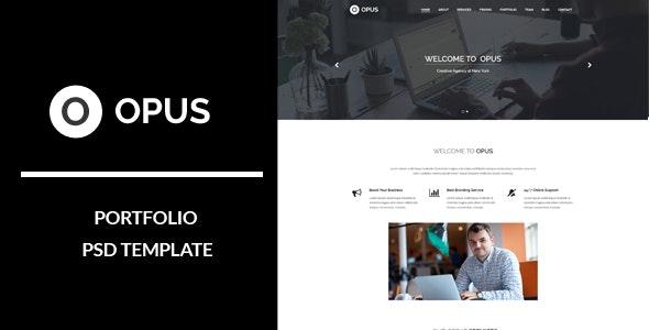 Opus : Portfolio PSD Template - Portfolio Creative