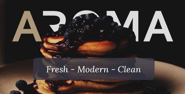 Aroma - Restaurant & Bistro PSD Template - Photoshop UI Templates