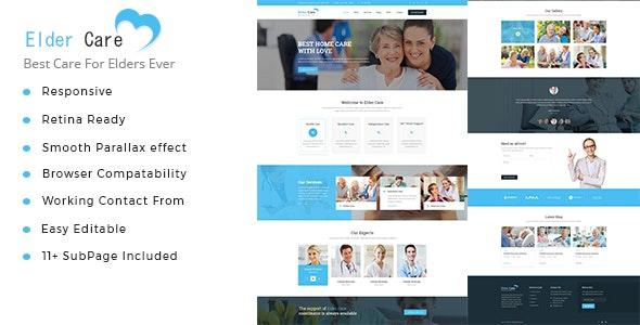 Elder Care - Senior Security HTML Template - Health & Beauty Retail