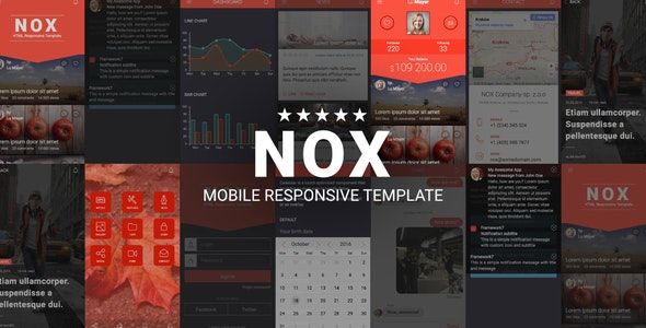 NOX | Mobile Responsive Template - Mobile Site Templates