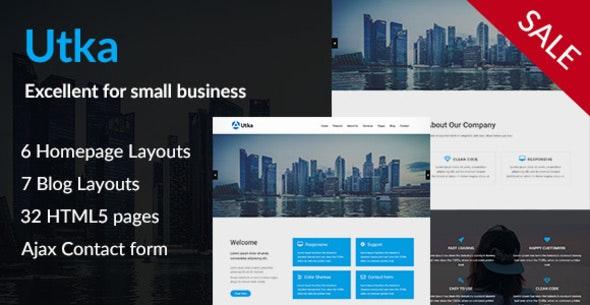 Utka - Corporate HTML5 Template - Corporate Site Templates