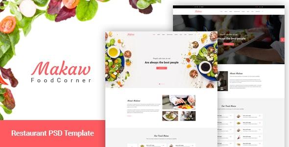 Makaw - Restaurant PSD Template - Business Corporate