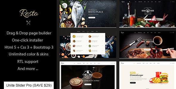 Resto - Multipurpose Restaurant & Cafe Joomla Template - Creative Joomla