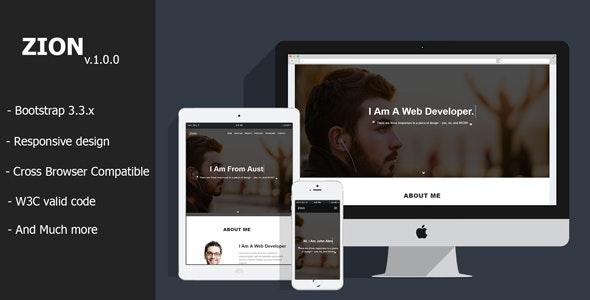 Zion - Personal Portfolio HTML Template - Personal Site Templates