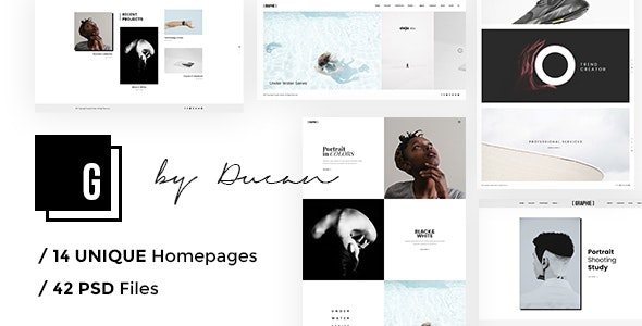 GRAPHIE - Modern Photography PSD Template - Photography Creative