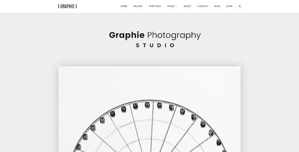 GRAPHIE - Modern Photography PSD Template