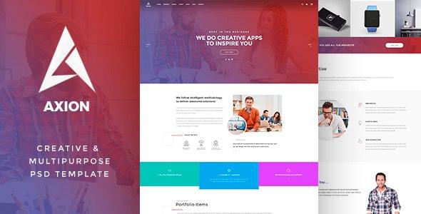 AXION - Creative & Multipurpose PSD - Corporate Photoshop