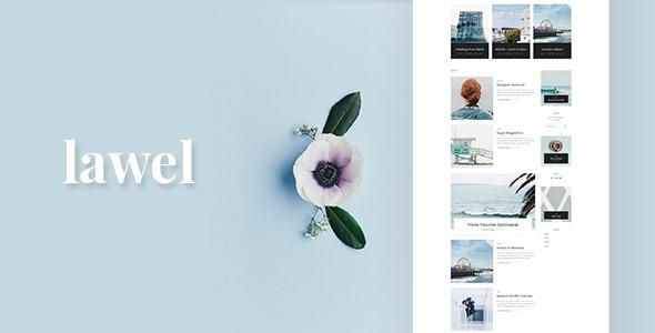 Lawel Modern Personal Blog PSD Template - Personal Photoshop