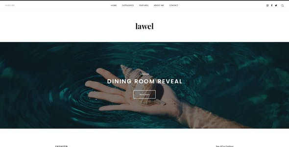 Lawel Modern Personal Blog PSD Template