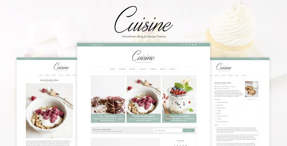Cuisine - WordPress Blog & Recipe Theme - Blog / Magazine WordPress