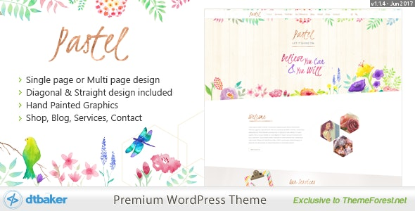 Pastel Floral Art WordPress Blog & Shop - Art Creative