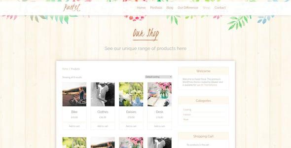 Pastel Floral Art WordPress Blog & Shop