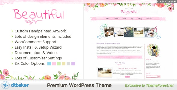 Beautiful Floral Watercolor - Blog & Shop - Creative WordPress