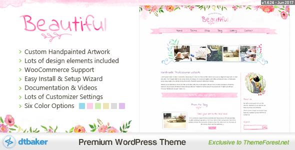 Beautiful Floral Watercolor - Blog & Shop - Creative WordPress